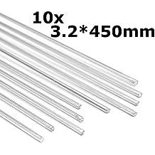 Werse 10pcs 450mm aleación de aluminio varillas de soldadura de plata herramientas para grietas polaco y