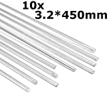 MASUNN 10Pcs 450Mm In Lega Di Alluminio Argento Bacchette Di Saldatura Strumenti Per Le Crepe Smalto E Vernice