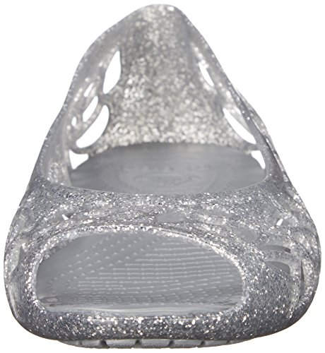 crocs Mädchen Isbelagltrfltgs Durchgängies Plateau Ballerinas Silber (Silver)