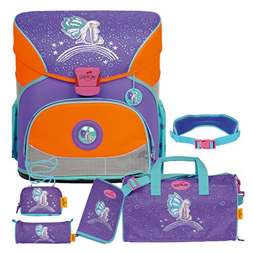 Rainbow Fairy - Elfe Fee - FLIEGENGEWICHT XS Schulranzen-Set 6tlg. mit Sporttasche