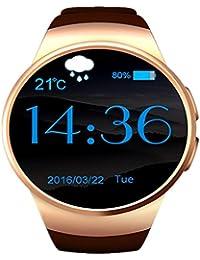 Ronda pantalla elegante reloj Bluetooth , gold