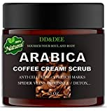 The Best Arabica Coffee Cream Body Scrub Anti-Cellulite with Caffeine Great for Dry, Rough And Sensitive Skin Provides firming, Skin Radiant, Contains