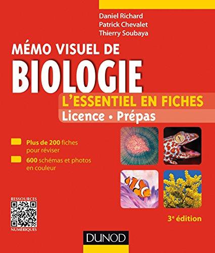 Mémo visuel de biologie - 3e éd. : L'essentiel en fiches (Biologie végétale t. 1)