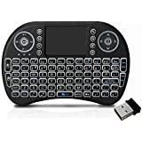 Tygot Mini Wireless Keyboard and Mouse(Touchpad with Backlight) with Smart Function for Smart Tv, Android Tv Box, Raspberry-Pi, Android & iOS Devices (Black)
