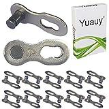 Yuauy - 10 Pares (20 Unidades, 6, 7, 8 velocidades, Cadena de Bicicleta Reutilizable, Conector de Clip de Junta rápida)