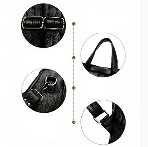 LAIDAYE Frau Shang Freizeit Multifunktions-Dual-Use-Taschen Black
