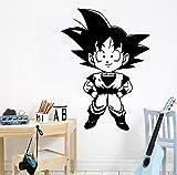Exquisite Son Goku Cartoon Wandtattoos Pvc Wandbild Kunst Diy Poster Für Kinderzimmer Wohnkultur Wandbild Poster Tapete 58x79 cm