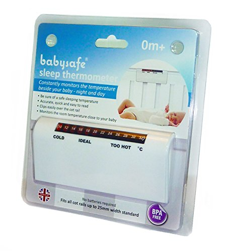 BabySafe® Cot & Nursery Room Thermometer Monitor – Clips over the cot rail to check the room temperature close to your baby 51p9HiPYOnL