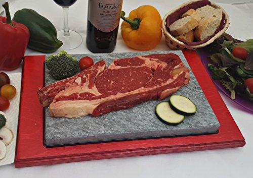 Piedrasar Premium Red Piedra Volcánica para asar carne