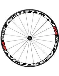 vicoki bicicleta rueda luz para bicicleta Llantas reflectantes Pegatinas para al aire libre Ciclismo, Color Rojo y blanco, White and Red