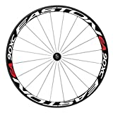 Vicoki, decalcomania / adesivi riflettenti per cerchioni della bicicletta, per ciclismo outdoor, colore rosso e bianco, White and Red