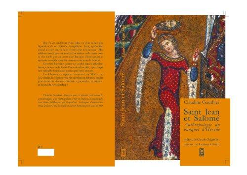 Saint Jean et Salomé : Anthropologie du banquet d'Hérode par Claudine Gauthier