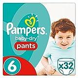 Pampers Baby Dry pantaloni taglia 6essenziali confezione 32pannolini