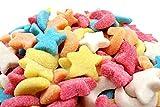 Vidal Lune e Stelle Colorate. Caramelle Gommose Zuccherate in Busta da 1 Kg. Ideali per Feste di Compleanno e Caramellate. Senza Glutine
