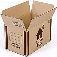 Cajas de Cartón Mudanza Pack de 10 - Canal Simple de Calidad Superior - Tamaño 500 x 300 x 300 mm - Mudanza - Embalaje - Almacenaje - Color Marrón - Fabricadas en España
