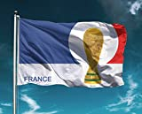 Frankreich Fahne 150 x 90 cm groß französische Flagge Weltmeister France Hissfahne Pokal WM 2018
