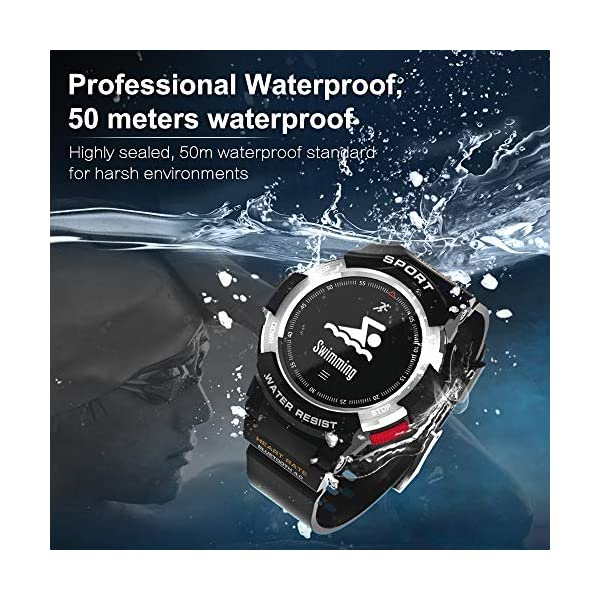 DTNOI Sports Watch Fitness Tracker For Running Swimming And Cycling Activity Tracker With Heart Rate MonitorIP68 Waterproof Smart Watch For Men Women And Kids