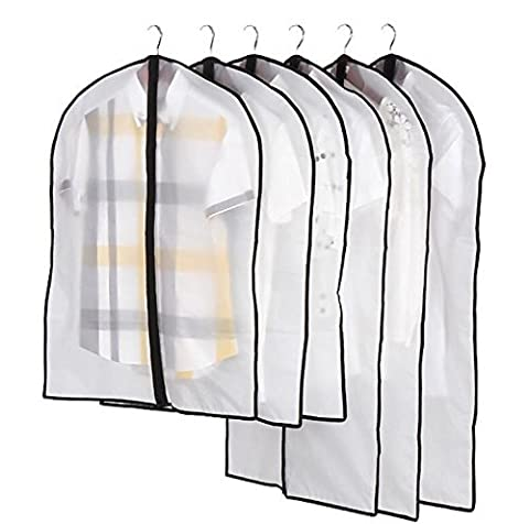 Zedtom Lot de 5 Housse de protection transparente pour Vêtements Costumes Manteaux Jupes Robe