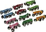 Ayygiftideas1dz Assorted Color Kids Webbed Nylon Wrist Bells Rattles Ring Bracelet