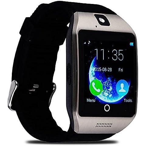 YuHan® Apro reloj inteligente 1.54Pantalla Táctil De 240* 240px reloj de pulsera con cámara NFC apoyo tarjeta SIM Bluetooth inteligente relojes para Andorid OS 4.1y por encima de