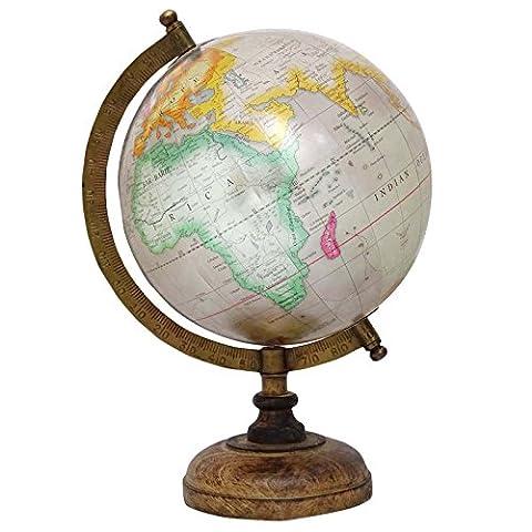13 Decorative Rotating Gris Ocean World Globe Decor Terre Géographie