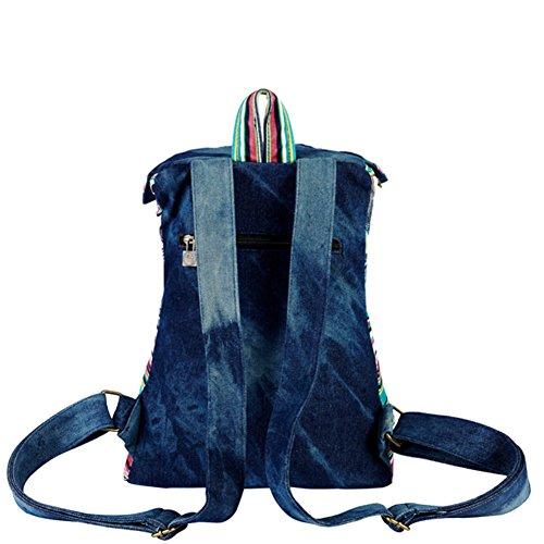 Mme sac à bandoulière en toile/Cartable College Vent/Voyage Sac à dos-A A