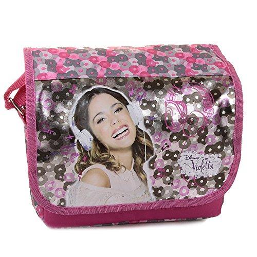 Violetta Borsa a tracolla con cerniera con risvolto sacchetto postier Tracolla Argente Rosa-Idea Regalo Disney (14)