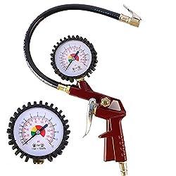 Convient pour:   Remplir les pneus, mesurer la pression des pneus ou ventiler la pression des pneus  Reste bien en main et garantit un travail facile    Fonctions spéciales:   * Avec le commutateur de dégonflage, si la pression du pneu gonflé est tr...
