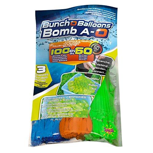 Original Bunch O Balloon Wasserbomben, 100 Wasserbomben in 60 Sekunden - selbstschließend ohne Knoten (10er ultimatives Wasserschlachts-Pack = 1050 Wasserbomben)