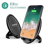ABOX Chargeur sans Fil Rapide Chargeur Induction Qi avec Double Bobines Radiateur Intégré pour Samsung Note 8/S8/S8+/S7/S7 Edge/S6 Edge+/Note 5, iPhone X, iPhone 8/8 Plus
