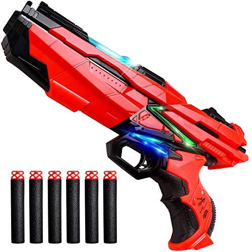 StillCool Blaster Giocattoli da tiro per Bambini Pistola e Proiettili Dardi Pistola di plastica con Luce