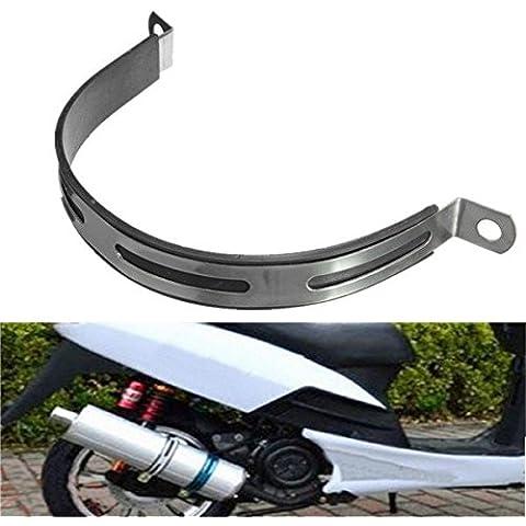 Yongse Silenciador de escape de la motocicleta abrazadera de tubo R5 R9 correa de colgar soporte de montaje
