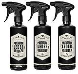 Premium LEDERREINIGER optimal zur Reinigung von Leder - URBAN FOREST Lederpflege für Auto Möbel Motorradbekleidung Handtaschen Ledercouch Schuhe Sattel mit natürlichem Avocado-Öl, Set: 3 x 500ml