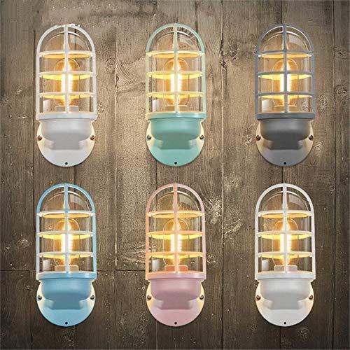 Kreative industrielle bunte Wandleuchte Eisen Wandleuchte für Wohnzimmer Balkon Bar Schlafzimmer Innenbeleuchtung Leuchten - Eisen Konzentrat