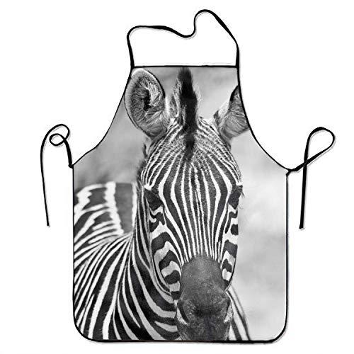 LarissaHi Teen Girls Schürze, Zebra Stripe Unisex Kitchen Schürze mit verstellbarem Hals zum Kochen Backen - Teen Zebra Kostüm
