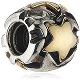 Pandora Damen-Bead Sterling-Silber 925 Gelbgold 585 Sterne 790563