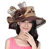 June's Young Damen-Hüte Sinamayhut Sommer Hut Sonnenhut eleganter Hut mit