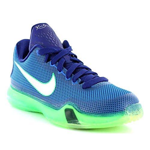 Nike Kobe X (GS), Zapatillas de Baloncesto para Niños, Azul/Plateado/Verde (Soar/Metallic Silver-DP Ryl Bl), 37 1/2 EU