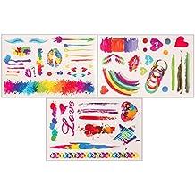 Colored Love Set | 3 Sheets & 57 Motive | Flash Tattoo | Original POSH Tattoo®