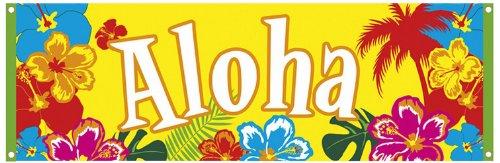 Boland 52505 - Banner Hawaii Hibiscus Aloha, 74 x 220 (Halloween Hawaiianische Kostüme)