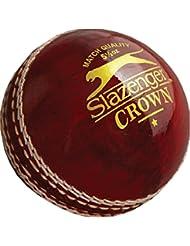 Slazenger corona de críquet deporte 4piezas Piel construcción formación balón, rojo, 4 3/4 oz