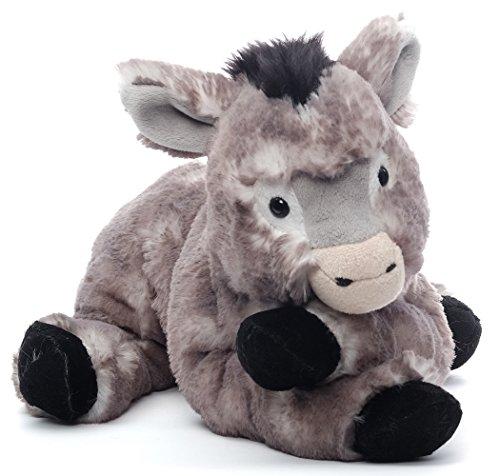 Inware 7141 - Kuscheltier Esel Karli, grau/meliert, liegend, 35 cm