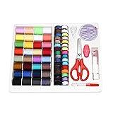 Kit de herramientas de costura Needlework caja Set Compacto con tijeras cinta métrica hilo para viaje para máquina de coser