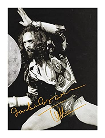 Ian Anderson - Jethro Tull Autographed Signed 21cm x 29.7cm A4 Photo Poster