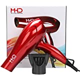 MHD Professional Hair Dryer 1875W Dc Lightweight 2 Speed and 3 Heat Blow Dryer Cola Red