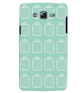 Citydreamz Blue and White Dots/Squares Hard Polycarbonate Designer Back Case Cover For Samsung Galaxy J5 2016 /J56/J510