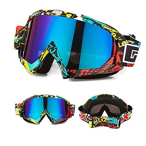 Skibrille Motorradbrillen Schutzbrille,Winter Schnee Sport Snowboardbrille,Skibrille Für Damen Und Herren Jungen Und Mädchen (Mehrfarbig)