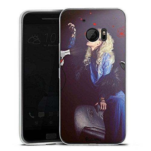 HTC 10 Slim Case Silikon Hülle Schutzhülle Frau Föhn Kamm
