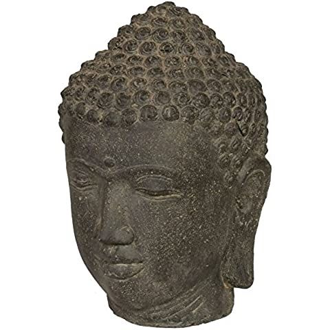Figura cabeza de Buda de piedra/Buda piedra de 50cm para casa y jardín