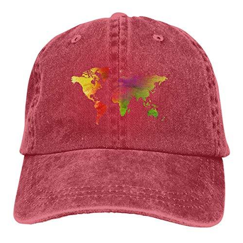 Cowboy Hat Map Denim Skull Cap Baseball Cowgirl Sport Hats for Men Women Cowgirl Cadet Cap